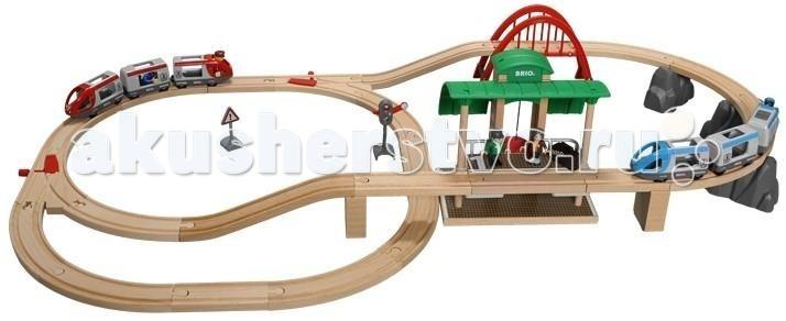 Brio 2-уровневая, с вокзалом, ,42 элемент2-уровневая, с вокзалом, ,42 элементЖ/д 2-уровневая, с вокзалом, ,42 элемента.  Игрушка детская железная дорога всегда радует детей и родителей. А для коллекционеров модели железных дорог не просто игрушки, а уникальные экспонаты для коллекции. Также если вы не знаете, что подарить ребёнку на день рождения, то всегда можете ему подарить модель железной дороги. Железную дорогу можно подарить и взрослому человеку и она станет как-бы отдушиной, обратит время вспять и взрослый дядька станет управлять поездом, радуясь как ребёнок.  Детская железная дорога соберет вечером вместе всю семью: так приятно проводить время среди близких и любимых, тем более за такой интересной игрой.<br>