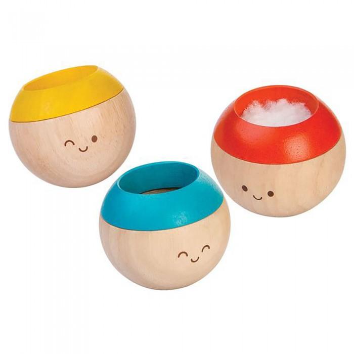 Деревянные игрушки Plan Toys Набор погремушек Сенсорные неваляшки 3 шт.