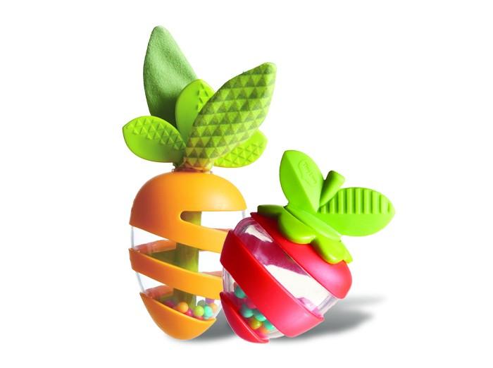 Картинка для Погремушка Tiny Love Развивающая игрушка Морковка и Клубничка