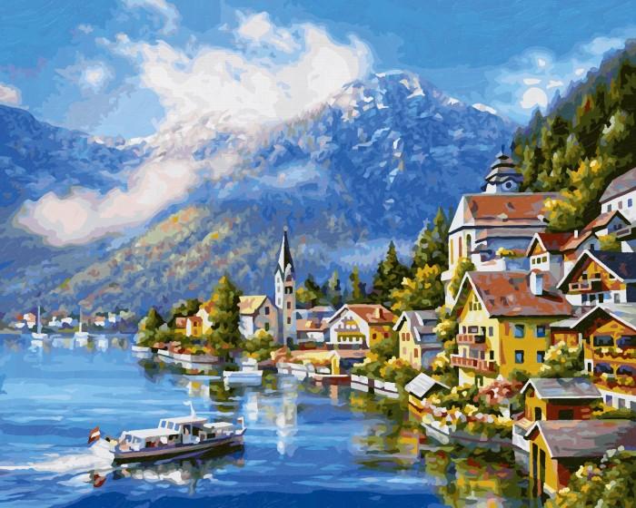 Картины по номерам Schipper Картина по номерам На озере Халльштатт 40х50 см