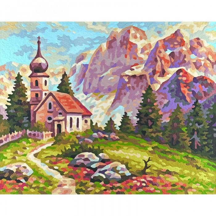 Schipper Картина по номерам Церковь в Доломитах 24х30 см