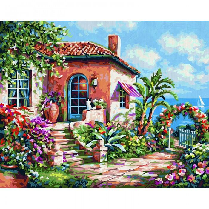 Schipper Картина по номерам Загородный дом на море 24х30 см