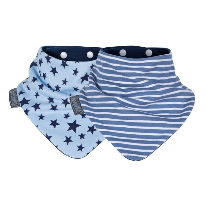 Нагрудник Cheeky Chompers Neckerbib Синие звезды/Синие полосы 2 шт.