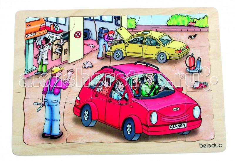 Купить Деревянные игрушки, Деревянная игрушка Beleduc Развивающий Пазл Автомастерская 17046