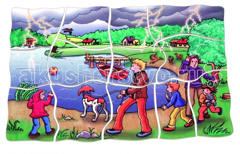 Деревянные игрушки Beleduc Развивающий Пазл Погода 17047