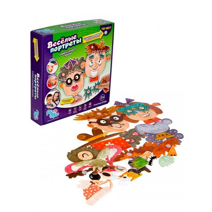 Игры для малышей Pic`n Mix Обучающая игра пазл-липучка Веселые портреты развивающий пазл конструктор pic