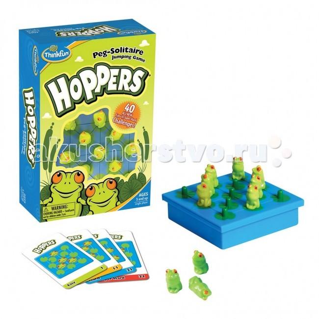 Игры для школьников Thinkfun Настольная игра Лягушки-непоседы Hoppers от 5 лет 6703-RU михаил окунь ламарк или феномен успешного надувания лягушки через соломинку