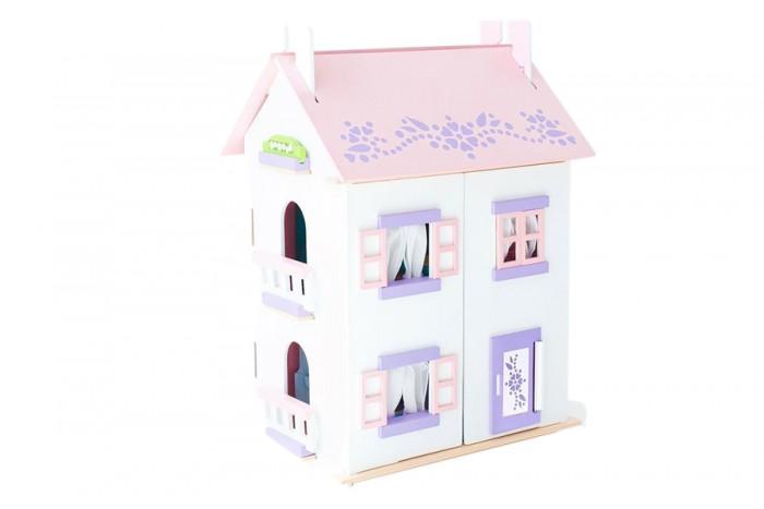 Paremo Кукольный домик АнастасияКукольный домик АнастасияКукольный домик Paremo Анастасия - выполнен в бело-розовой цветовой гамме, украшен сиреневыми орнаментами и укомплектован игровыми аксессуарами. В домике 2 основных этажа и 3-й мансардный.   Разработан для формата мини-кукол высотой до 15 см  Основные характеристики: игрушка 100% деревянная, ни одного пластикового элемента в каркасе и мебели кукольный дом Анастасия относится к типу закрытых домиков (лицевые фасады открываются, створки крыши перекидываются или полностью снимаются для удобства игры) размеры домика: 65 х 35 х 45 см разработан для формата мини-кукол высотой до 15 см оконные рамы и дверь открываются и закрываются  В комплекте: 15 предметов кукольной мебели, 23 декоративные наклейки, 3 карниза для штор.   ВНИМАНИЕ: куклы, игрушечные питомцы и текстиль приобретается отдельно!<br>