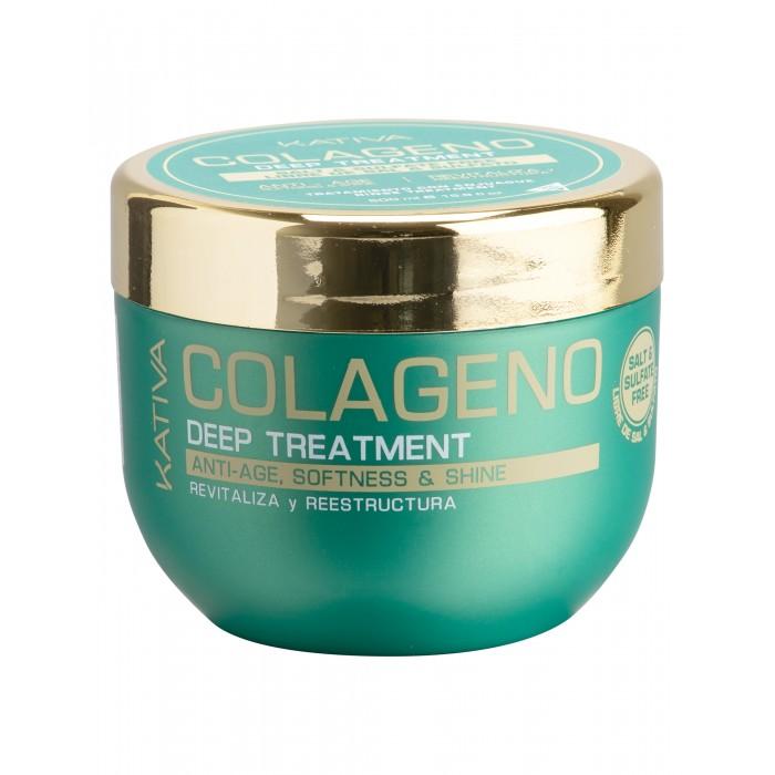 Косметика для мамы Kativa Collageno Интенсивный коллагеновый уход 500 мл набор для выпрямления волос kativa iron free уход для поврежденных волос