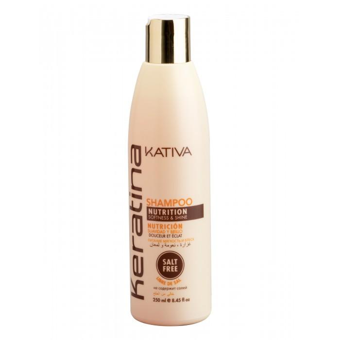 Купить Kativa Keratina Укрепляющий шампунь с кератином для всех типов волос 250 мл в интернет магазине. Цены, фото, описания, характеристики, отзывы, обзоры