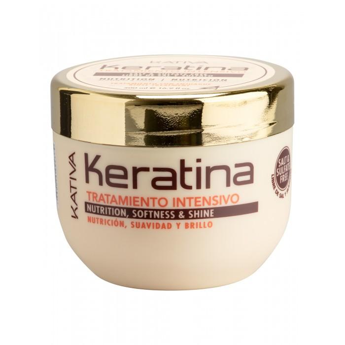 Kativa Keratina Интенсивный восстанавливающий уход с кератином для повреждённых и хрупких волос 500 мл