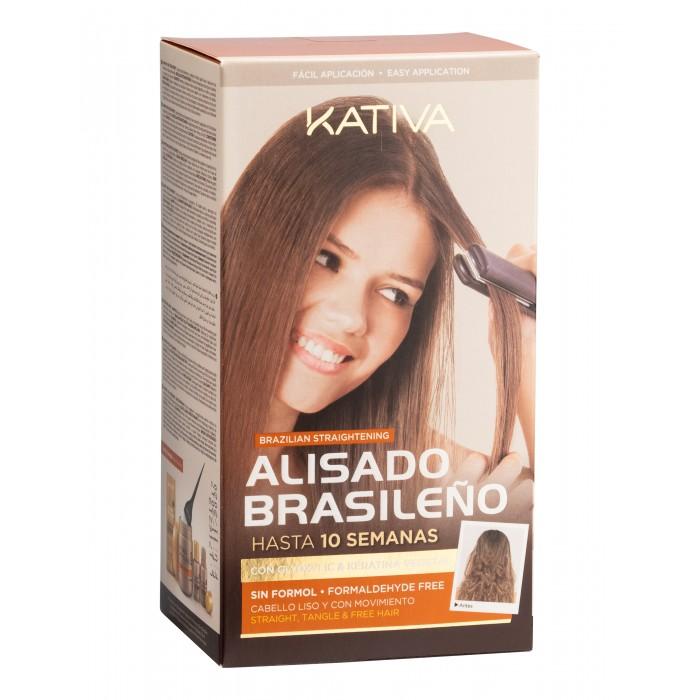 Kativa Набор для кератинового выпрямления и восстановления волос с маслом Арганы от Kativa