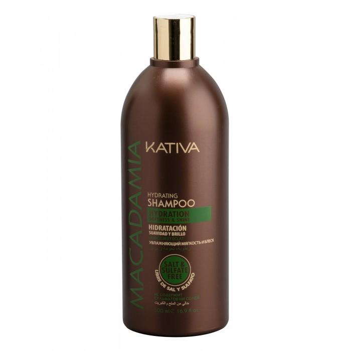 Kativa Macadamia Интенсивно увлажняющий шампунь для нормальных и поврежденных волос 500 мл от Kativa