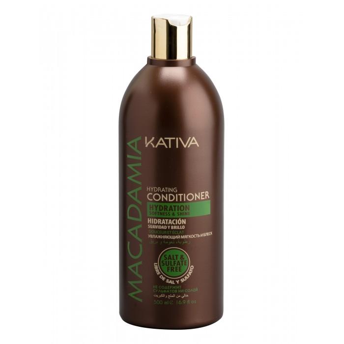 Косметика для мамы Kativa Macadamia Интенсивно увлажняющий кондиционер для нормальных и поврежденных волос 500 мл kativa увлажняющий кондиционер для нормальных и поврежденных волос macadamia 500 мл