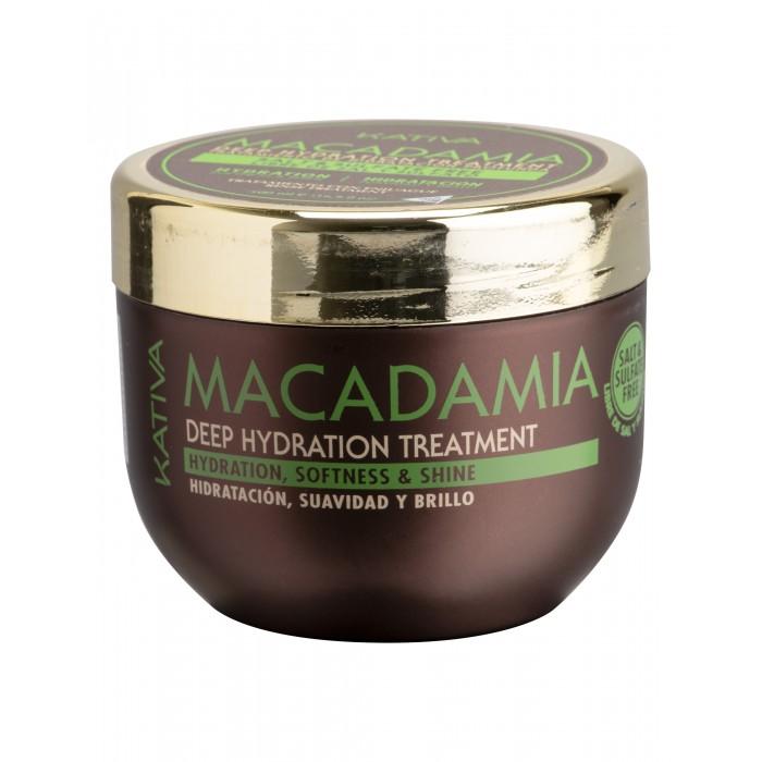 Kativa Macadamia Интенсивно увлажняющий уход для волос 500 мл
