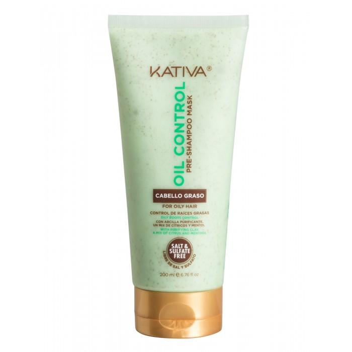 Купить Косметика для мамы, Kativa Oil Control Маска Контроль перед мытьем шампунем для жирных волос 200 мл