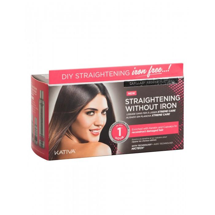 Косметика для мамы Kativa Iron Free Набор для выпрямления волос Уход для поврежденных волос с маслом купуасу и кератином недорого