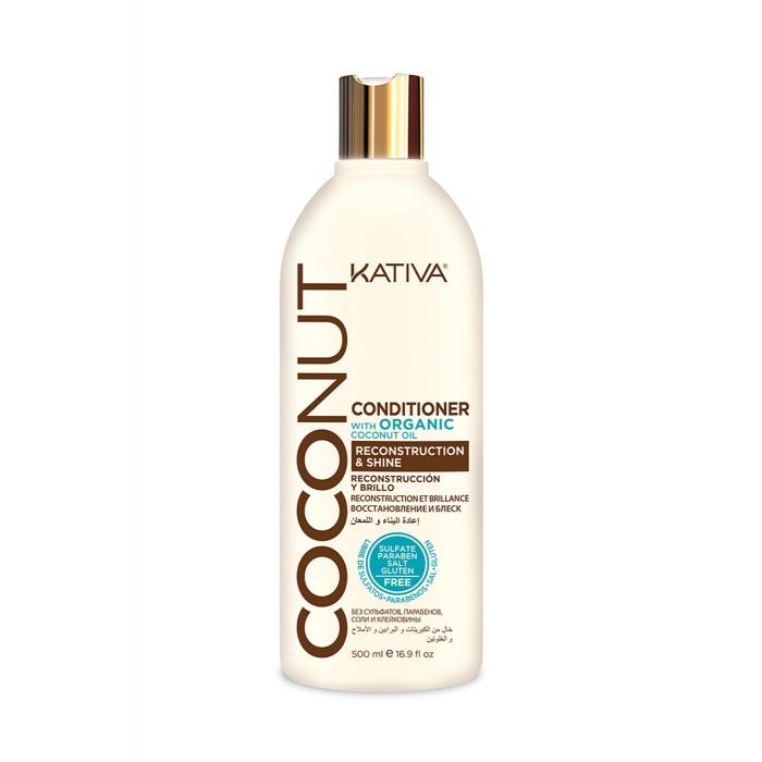 Kativa Coconut Восстанавливающий кондиционер с органическим кокосовым маслом для поврежденных волос 500 мл от Kativa