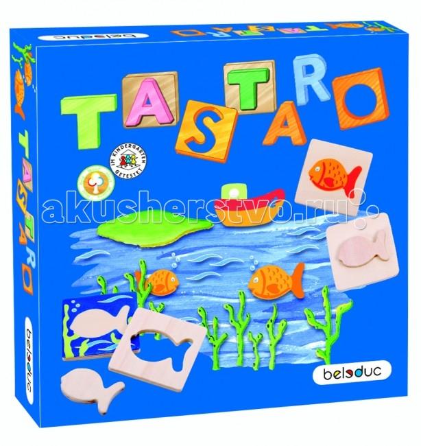 Beleduc Развивающая игра Тастаро 22396Развивающая игра Тастаро 22396Развивающая игра Тастаро 22396 Beleduc  Развивающая игра деревянная для малышей. Смысл игры — найти правильное соотношение рисунков и их форм, составив карточки парами.   Игра развивает память, зрительное и тактильное восприятие. Различные варианты ведения игры и уровни сложности — для разных возрастных групп.  Включает 43 детали: 8 деревянных формочек, 32 деревянные карты, 3 текстильных мешочка.  Все детали выполнены из высококачественных материалов, совершенно безопасных для маленьких детей.  Игры Beleduc идеально подходят для начального развития детей, задолго до того, как они идут в школу, но и просто для интересного времяпрепровождения. Игры Beleduc идеально подходят для совместной игры родителей и детей. Некоторые игры очень понравятся взрослым, которые с удовольствием втянутся в процесс игры.<br>