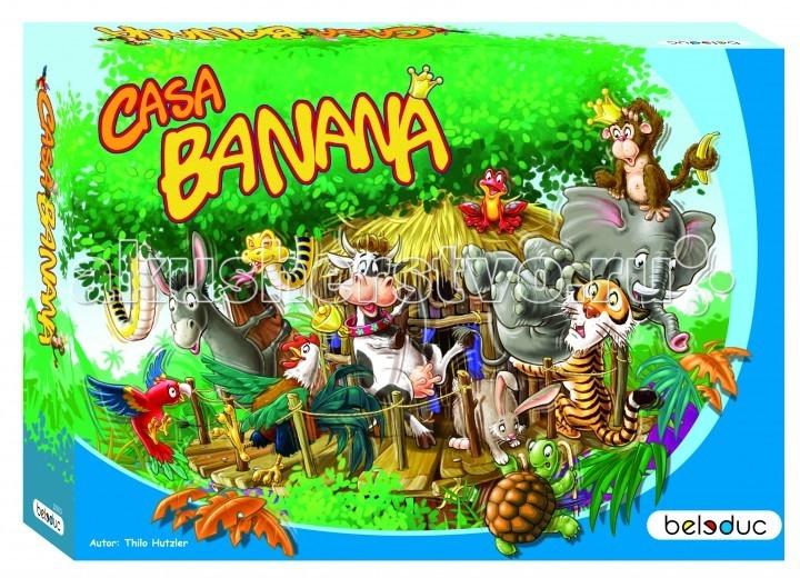 Beleduc Развивающая игра Каса Банана 22500Развивающая игра Каса Банана 22500Развивающая игра Каса Банана 22500 Beleduc  По джунглям свободно разгуливают животные! Король обезьян приглашает своих друзей-зверей со всего света на большую вечеринку в джунглях, чтобы показать им свое новое жилище. Все звери оценили доброжелательность этого приглашения и большим потоком устремились к новому домику. Наконец-то они могут прийти в гости к своему близкому другу, живущему в огромных, необъятных джунглях.   Однако, неизвестно, сможет ли новый дом вообще выдержать столько гостей. Чем больше животных залезет в домик, тем неустойчивее становится он. Также важно выбрать правильную стратегию — как расположить как можно больше зверей в домике, чтобы он или сами звери не упали?  Включает 94 детали: 20 фигурок животных, 63 фишки бананов, 5 основ для дома, 3 деревянных столбика, 1 кубик с числами, 1 кубик с символами, 1 мешочек.  Все детали выполнены из высококачественных материалов, совершенно безопасных для маленьких детей.  Игры Beleduc идеально подходят для начального развития детей, задолго до того, как они идут в школу, но и просто для интересного времяпрепровождения. Игры Beleduc идеально подходят для совместной игры родителей и детей. Некоторые игры очень понравятся взрослым, которые с удовольствием втянутся в процесс игры.<br>