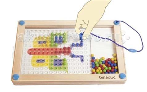 Beleduc Развивающая игра ЛогиПик 21020Развивающая игра ЛогиПик 21020Развивающая игра ЛогиПик 21020 Beleduc  Настало время творчества! ЛогиПик это игра на основе магнитов. Изображения на карточках должны быть воспроизведены на доске. Фантазия ребенка в этой игре может быть развернута в полном объеме.   Удобный дизайн делает эту игру подходящей как для детей, так и для взрослых. Таким образом, Логипик идеально подойдет для любой ситуации. Благодаря простоте использования, игра не требует пояснений и прекрасно подходит для самостоятельного изучения.  Содержит деревянный каркас с магнитным стержнем, 8 мастер-карт (с рисунком на обеих сторонах).  Все детали выполнены из высококачественных материалов, совершенно безопасных для маленьких детей.  Игры Beleduc идеально подходят для начального развития детей, задолго до того, как они идут в школу, но и просто для интересного времяпрепровождения. Игры Beleduc идеально подходят для совместной игры родителей и детей. Некоторые игры очень понравятся взрослым, которые с удовольствием втянутся в процесс игры.<br>