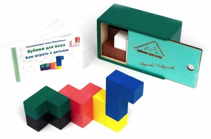 Деревянная игрушка Ступеньки творчества Кубики для всех от Семьи Никитиных
