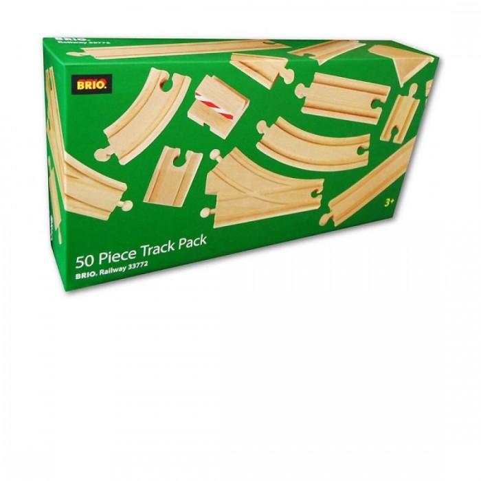 Железные дороги Brio Большой набор деталей-рельс 50 элементов, Железные дороги - артикул:72786
