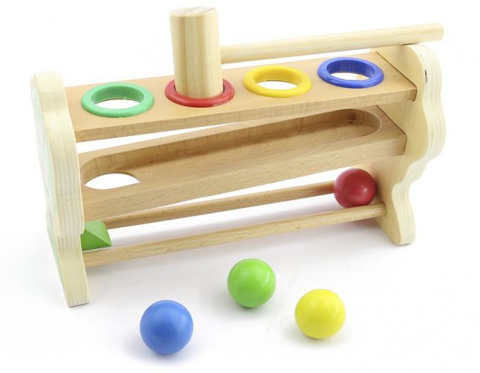 Деревянная игрушка Мир деревянных игрушек (МДИ) Стучалка Горка-шарики маленькая