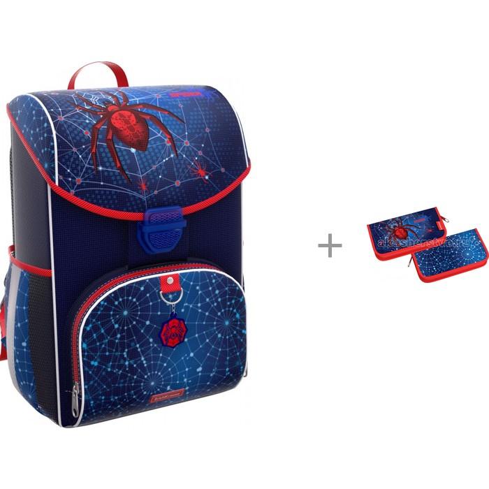 Купить Школьные рюкзаки, Erich Krause Ранец ErgoLine 15 л с пеналом-книжкой с наполнением Spider