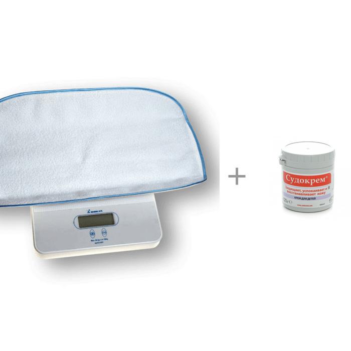 Детские весы Momert 6420 с гипоаллергенным кремом Судокрем 125 г