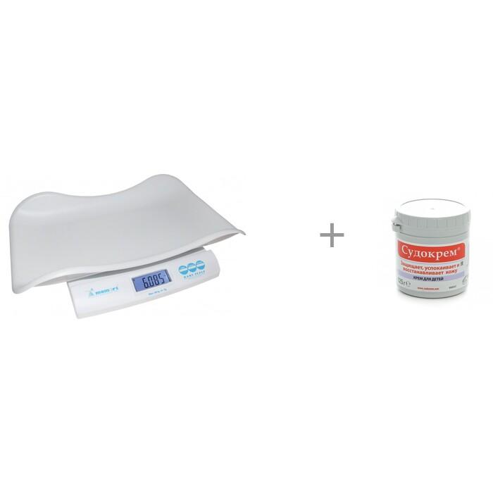 Детские весы Momert 6475 с гипоаллергенным кремом Судокрем 125 г