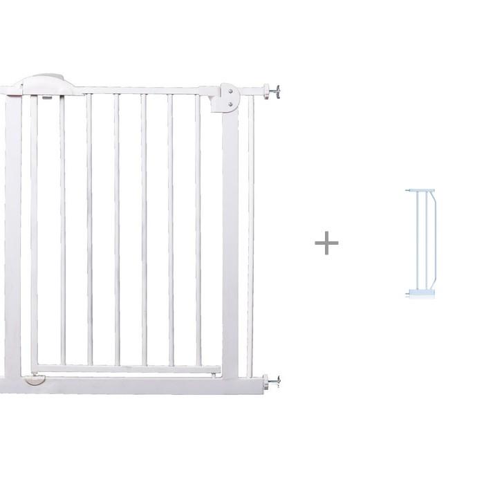 Baby Safe Барьер-калитка для дверного проема 75-85 см с расширителем для барьера 20 см