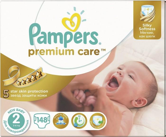 Pampers Подгузники Premium New Baby р.2 (3-6 кг) 148 шт.