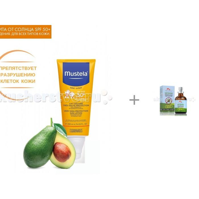 Mustela Sun Солнцезащитное молочко + Масло для отпугивания комаров 50 мл