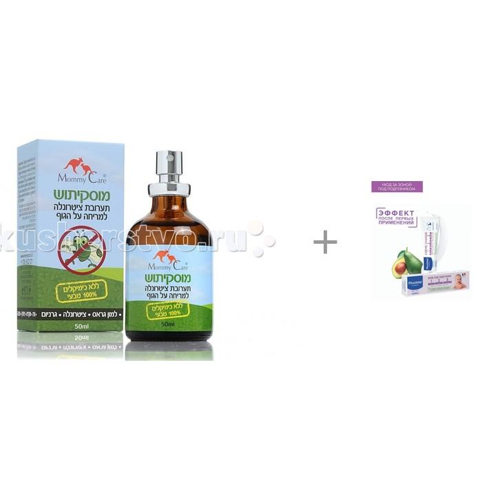Mommy Care Масло для отпугивания комаров + Витаминизированный защитный крем под подгузник 1-2-3