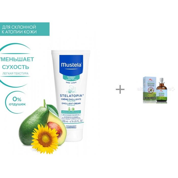 Mustela Смягчающий крем «STELATOPIA» + масло для отпугивания комаров 50 мл