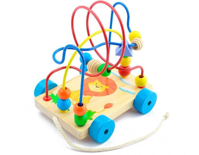 Каталка-игрушка Мир деревянных игрушек (МДИ) Лабиринт-каталка Львенок