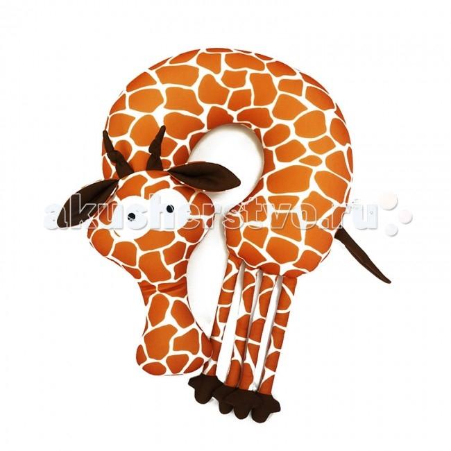 Аксессуары для автомобиля Maxitoys Подушка-подголовник антистресс Жираф подушки декоративные maxitoys подушка подголовник жираф