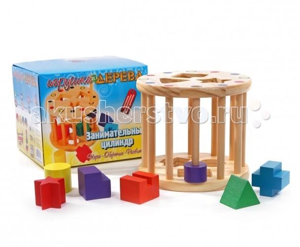 Деревянная игрушка Мир деревянных игрушек (МДИ) Занимательный цилиндр