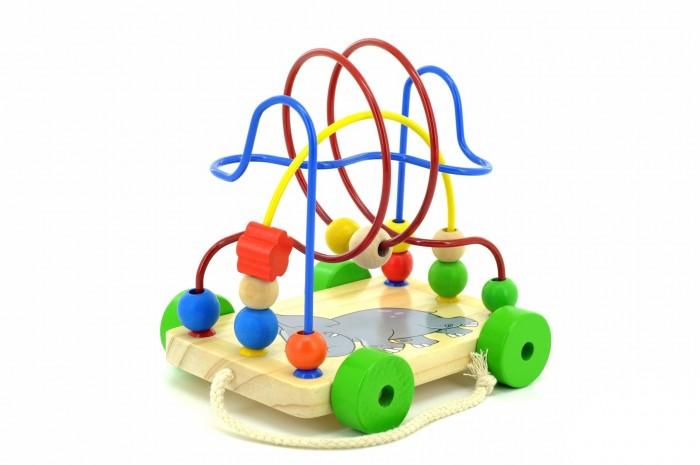 Каталки-игрушки Мир деревянных игрушек (МДИ) Лабиринт-каталка Слоник мир деревянных игрушек лабиринт каталка жираф