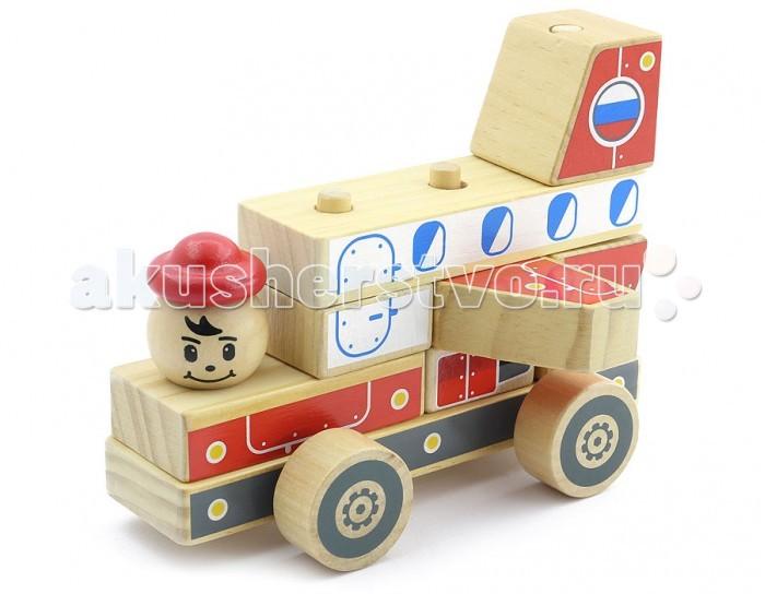 Каталки-игрушки Мир деревянных игрушек (МДИ) Автомобиль-конструктор 4 мир деревянных игрушек конструктор каталка полиция