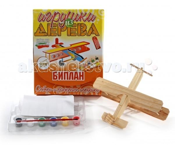 Конструкторы Мир деревянных игрушек (МДИ) Набор для творчества Биплан игрушка мир деревянных игрушек лабиринт слон д345