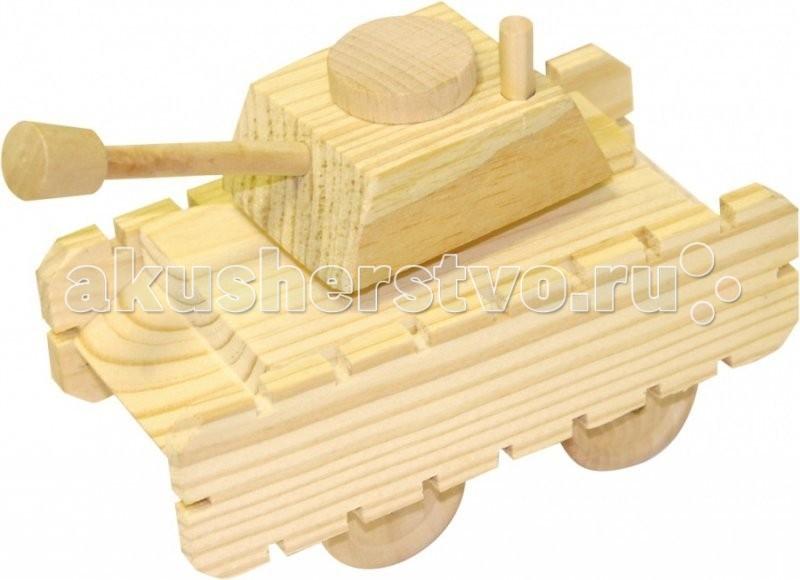 Конструкторы Мир деревянных игрушек (МДИ) Набор для творчества Танк деревянные игрушки мир деревянных игрушек мди лабиринт лев