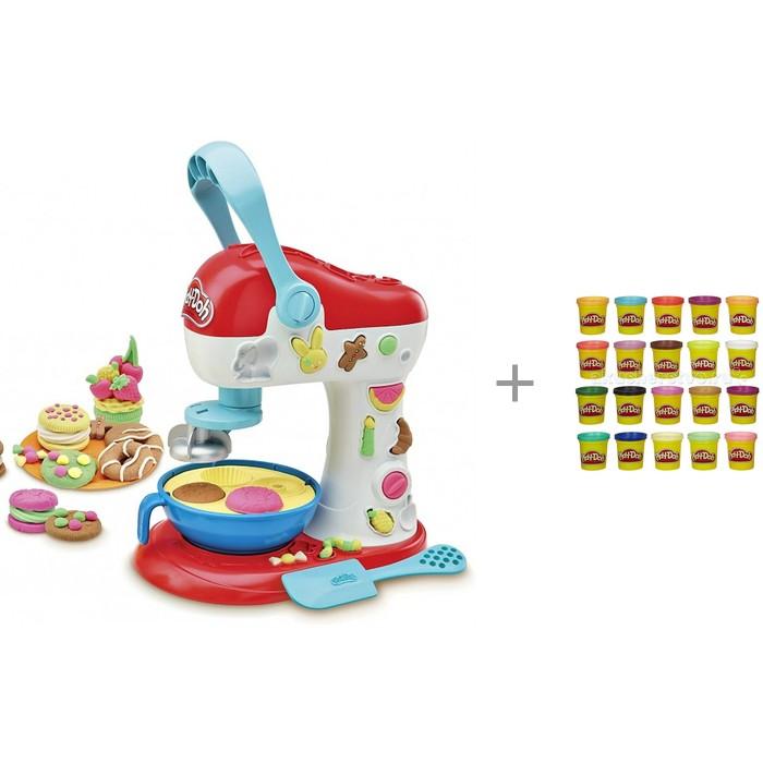 Play-Doh Миксер для Конфет с набором пластилина из 20 банок