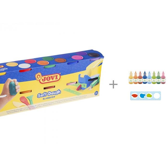 Картинка для Масса для лепки Jovi Масса для лепки 10 цветов х 110 г с красками для рисования пальцами Djeco