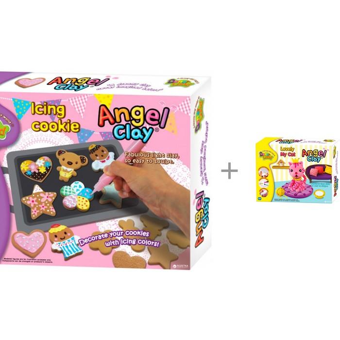Купить Масса для лепки, Angel Clay Игровой набор массы для лепки Icing Cookies с массой для лепки Lovely my cat