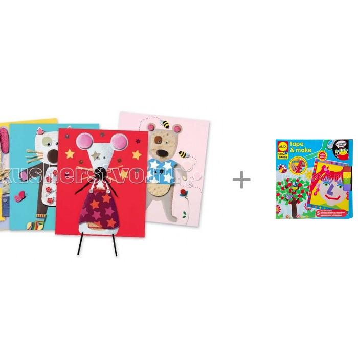 Купить Наборы для творчества, Djeco Аппликация для малышей с набор Alex для создания коллажей Яркие картинки