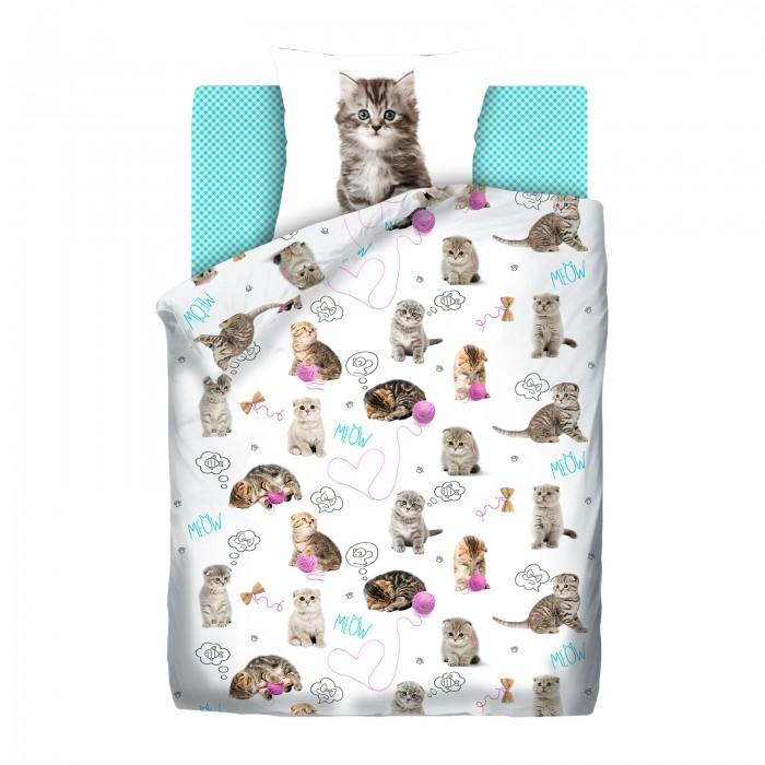 Купить Постельное белье 1.5-спальное, Постельное белье Непоседа For You Fun&Cute Grey kittens 1.5-спальное (3 предмета)