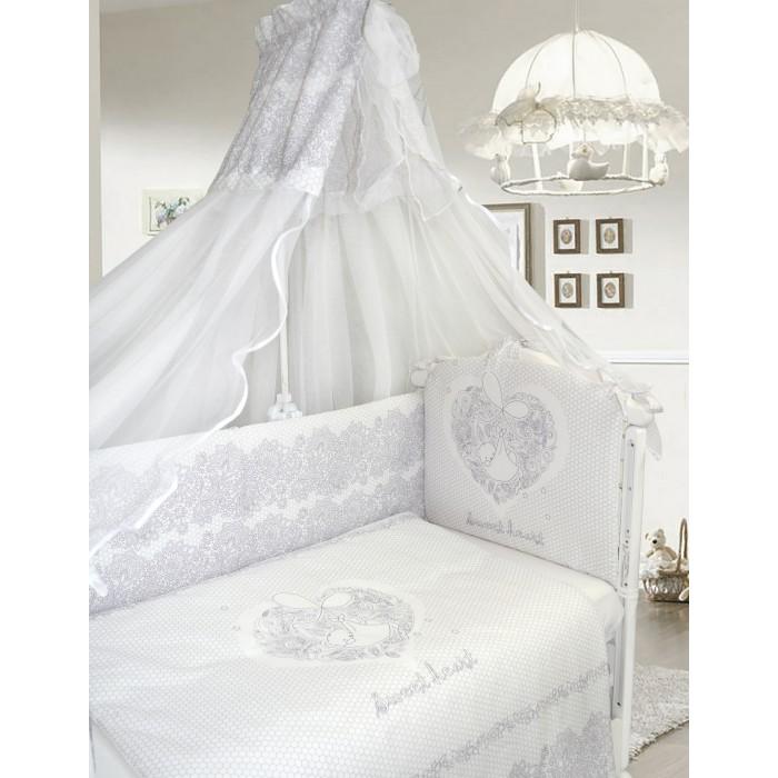 Комплект в кроватку Labeille Ажурный без вышивки (7 предметов) фото