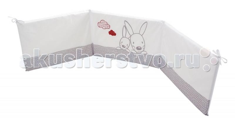 Бортик для кроватки Micuna Kangaroo 120х60Kangaroo 120х60Бортики 120х60 Micuna Kangaroo TX-1744   Коллекция текстиля для детской комнаты от испанской компании Micuna создана из натурального хлопка самой тонкой выделки. Нежная, гипоаллергенная ткань благоприятна для кожи малышей. Она легко стирается и быстро сохнет. Наполнитель мягких бортиков – холлофайбер – состоит из пустотелых полиэстеровых волокон, скрученных в форме пружин. Обеспечивает лучшую, чем синтепон, теплоизоляцию и меньше слёживается. Текстиль Micuna – гарантия настоящего качества.  Основные характеристики: мягкие бортики в изголовье детской кровати материал: 50% хлопок, 50% полиэстер наполнитель: холлофайбер гипоаллергенные материалы и краски бампер (ДхВ): 180х40 см идеально подходят для кроватки Micuna Kangaroo 120х60.<br>